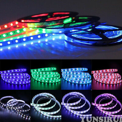 5m LED SMD Streifen Strip Leiste 12V/24V RGB RGBW RGBWW 4in1 Stripe Dimmbar Band