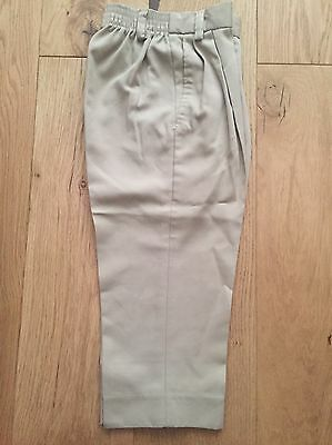 Boy's Smart Light Beige Trousers With Elasticated Waist (2-3 Years)