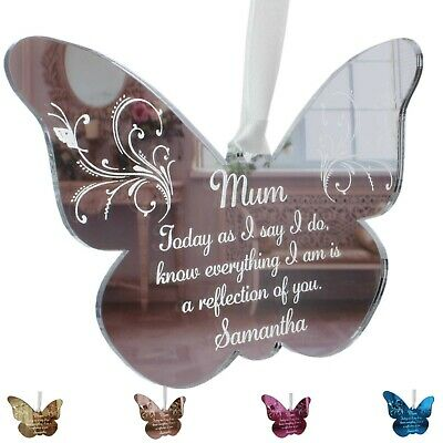 Mother of the Bride Gift Personalised Wedding Keepsake MOB Butterfly Mum Groom