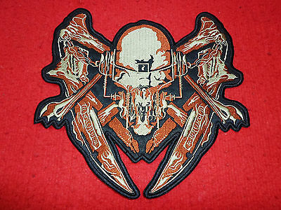 """Megadeth Logo Embroidered Big Patch Skull Dave Mustaine Rust Peace for Back 10"""""""""""