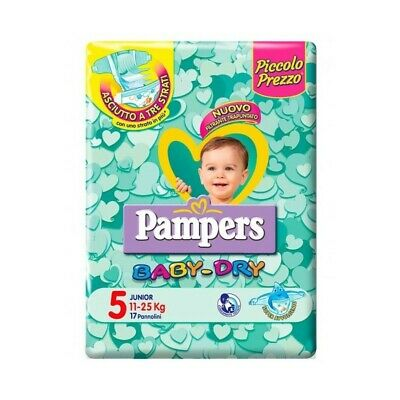 PAMPERS baby dry junior taglia 5 (11-25 kg) 17 pannolini
