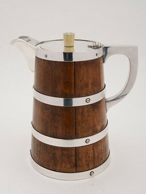 Oak and Silver Plated Water Jug  / Pitcher
