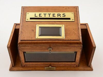 Victorian Oak Country House Letter Box, Circa 1890