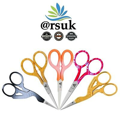 Embroidery Scissors 4-inch Stainless Steel Sewing Shears Crafting Needlework