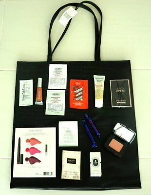 Saks 5th Avenue Tote Bag Shopping Cosmetic Filled Deluxe Samples Beauty New 15pc