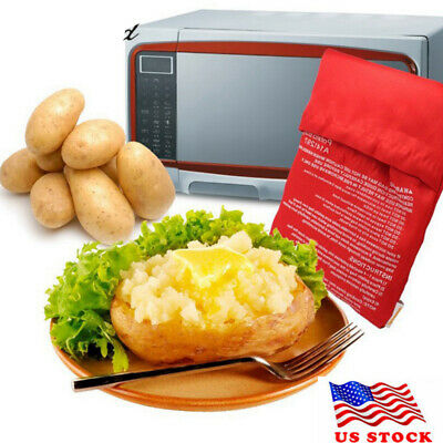 New Microwave Express Baked Potato Cooking Bag Fast Quick Washable Cooker