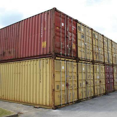 40Ft Hq Sea Shipping Storage Container Water Tight And Sealed With Lock Boxes