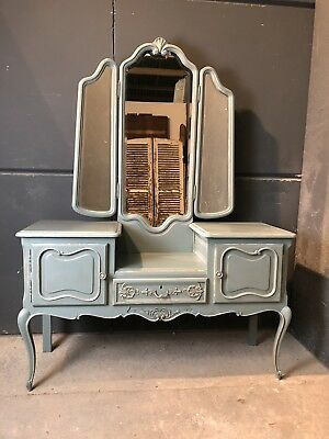 Vintage French Dressing table / Painted French   shabby chic style (VB365)