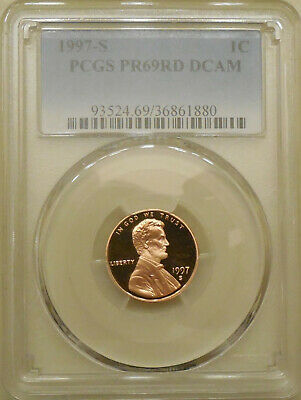 1997-S PCGS PR69DCAM proof Lincoln cent deep cameo red