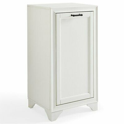 Crosley Tara Laundry Hamper in Vintage White
