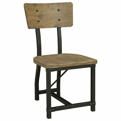 Furniture of America Baxter Dining Side Chair in Rustic Oak (Set of 2)