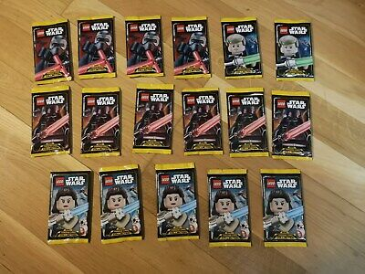 17 Booster trading card star wars Lego Serie 1