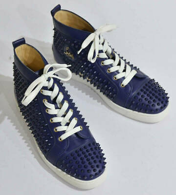 db952ea248a CHRISTIAN LOUBOUTIN TRAINERS Sneakers Flat Calf Spikes Red Leather ...
