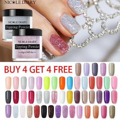 NICOLE DIARY Dipping Acrylic Powder Liquid Nail Gel No UV Needed Nail Art