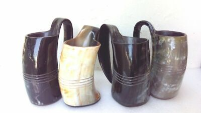 Lot of 4 Pcs Game of thrones viking drinking horn mugs Tankard for beer ale wine