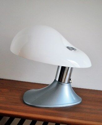 Mid Century Modern Italian Space Age Vintage Plastic Cobra Table Lamp