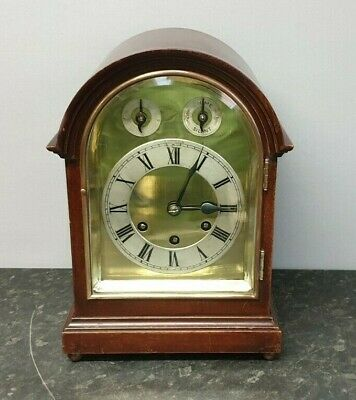 Antique Edwardian Bow Top Gustav Becker 8 Day Westminster Chiming Table Clock