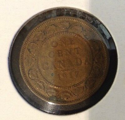 1917 One 1¢ Canadian Cent