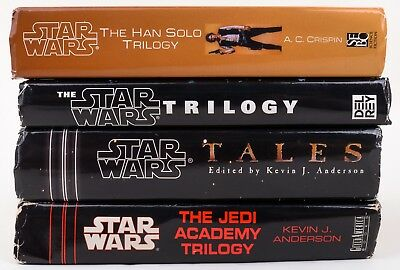 Lot of 4 STAR WARS Books The Han Solo Trilogy by AC Crispin, Jedi Academy, Tales