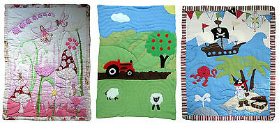 Traditional Handmade Cot Quilt Play Mat & Carry Case Baby  plus Free Cushion