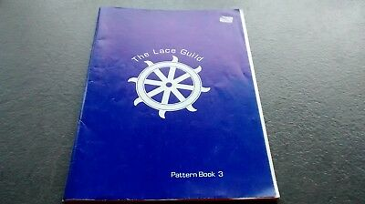 Lace Guild Pattern Book 3 - vintage 1988 , lace  pricking charts. FREEPOST