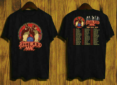 Fleetwood Mac Tour Dates Concert 2018 - 2019 T-shirt 2 side size S-3XL tee
