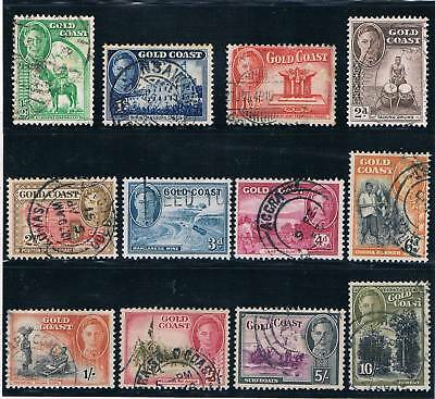 Gold Coast - British Colonial - Complete Set Of 12 Old Stamps ( Golc 25 )
