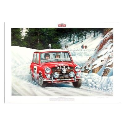 Signed by Paddy Hopkirk - Limited edition 1964 Monte Carlo Rally print