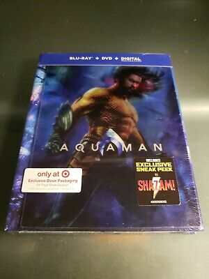 Aquaman Target Exclusive-Blu-Ray+DVD+Digital-New-Free Shipping