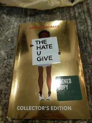 BRAND NEW The Hate U Give Angie Thomas Signed Autographed Book collector edition