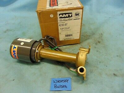 "Amt, Coolant Pump, 4230-97, 1/25Hp, 3Ph, 115V, 60Hz, Cast Bronze, 3/8"" Npt"