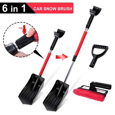 Masthome Ice Scraper for Car 6 in 1 Snow Brush Winter Car Snow Shovel & Ice Snow
