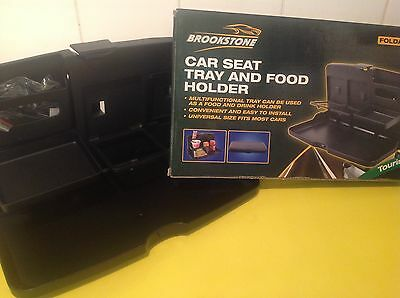 Brookstone Car Seat Tray And Food/Drink Holder-Camping/Holiday/Travel/Travelling