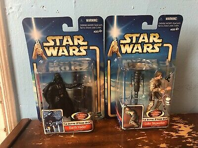 "Lot 2pcs Star Wars LUKE SKYWALKER /& DARTH VADER 3.75/"" Hasbro action figure toy"