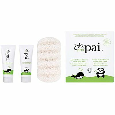 Petit Pai Try Me Set for Babies (Sample Size) 15ml Hair Wash, Face Cream, Sponge