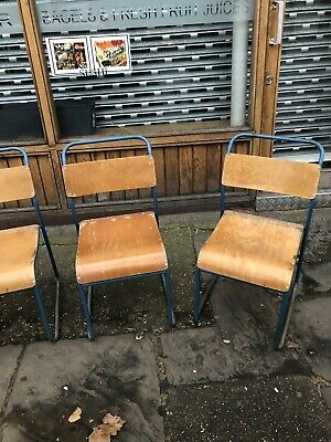 Vintage Plywood Stacking Chairs by Remploy - 16 In Stock. Cafe Restaurant Bar