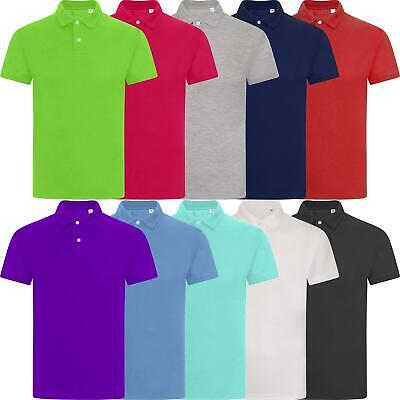 New Mens Polo Shirt Top Short Sleeve Pique Cotton Summer Plain T-Shirt Tee Golf