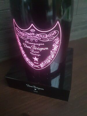 Dom Perignon Champagne Led Luminous Illuminated Display Bottle Stand 75Cl Rose