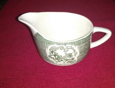 Green & White The Old Curiosity Shop Royal China Creamer