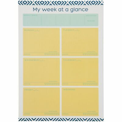 Otto A4 Dry Erase Weekly Wellness Planner Palm