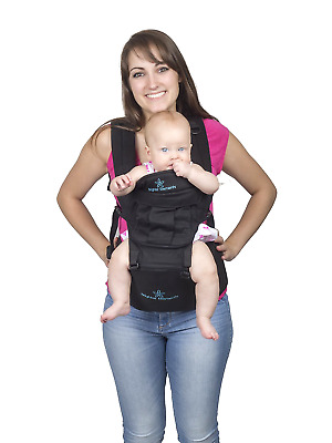 Five Position Baby Carrier with Hip Seat AND Hoodie Baby Backpack Newborn Infant