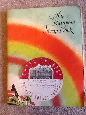 Scrapbook of trip to London August 1954 Hotel Russell, Windsor, Whipsnade Zoo