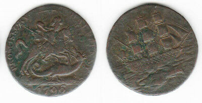 GREAT BRITAIN -  Salmon, Courtney and Frost, Copper Halfpenny, 1796