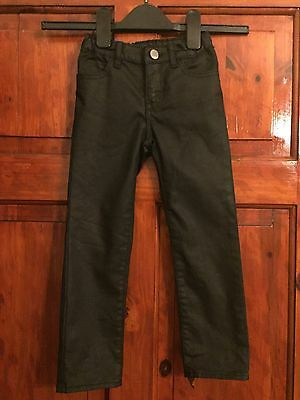 Baby Gap Girls True Black Wax Skinny Trousers  Age 4