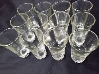 12 pc Shot Glasses 2 oz Glass Barware Shots Whiskey Tequila Vodka  Scotch Two oz
