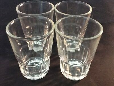 4 PC Shot Glasses,Glass Barware,Shots, Whiskey,Tequila Vodka Aguardiente Fun fun