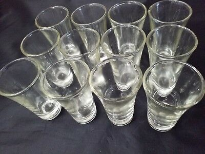 12 pc Shot Glasses 2 oz Glass Barware Shots Whiskey Tequila Vodka  Firewater Rum