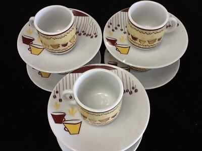 fdc49887ea2 Espresso coffee cup set. 12 pc cup and saucer set Cafe Cafesito Tazas
