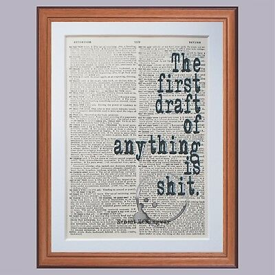 running dictionary page literary art print book print quotes gift