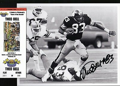 42c3ee05e79 Pittsburgh Steelers THEO BELL SB XIII XIV autograph signed 8x10 photo  deceased